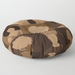FOR BROWN GIRLS COLLECTION COLLAGE Floor Pillow
