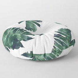 Banana Leaf Watercolor #society6 #buy #decor Floor Pillow