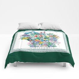 Wisconsin Wildflowers with border Comforters