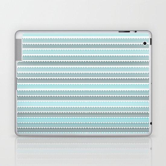 Aqua Lines and Dots Laptop & iPad Skin