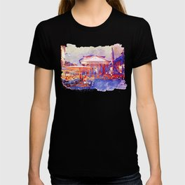 The Pantheon Rome Watercolor Streetscape T-shirt