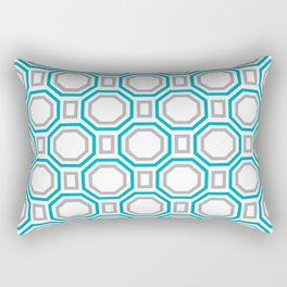 Blue Harmony II Symmetry Rectangular Pillow