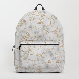 Grey Marble with Gold Backpack