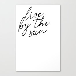 live by the sun love by the moon (1 of 2) Canvas Print