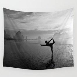 Yoga at Shi Shi Beach, Washington Wall Tapestry