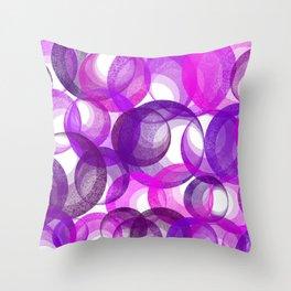 Abstract Cirles - Purple Throw Pillow