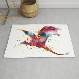 Dragon Art Colorful Watercolor Art Gift Dungeon and Dragons Fantasy Art Kids Gifts Rug