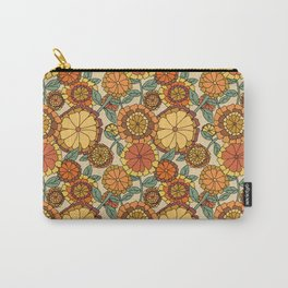 Groovy Marigold Floral Carry-All Pouch
