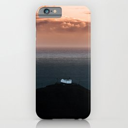 Lonely House by the Sea during Sunset - Landscape Photography iPhone Case