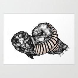 Length Owl - from new zine Art Print