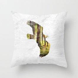 Soar Like An Eagle. Throw Pillow