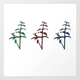 resident evil herbs Art Print