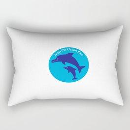 Keep the Ocean Blue_Dolphin_F Rectangular Pillow