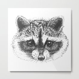 Adorable little trash panda Metal Print