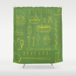 Gardening and Farming! - illustration pattern Shower Curtain