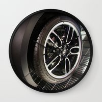 bmw Wall Clocks featuring BMW Mini Paceman Wheel by Mauricio Santana