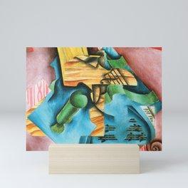 """Juan Gris """"Violin and glass"""" Mini Art Print"""