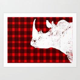 Animals Illustration - Rhinos Art Print