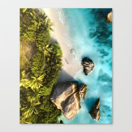 Tropical Seychelles Canvas Print