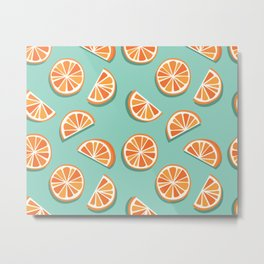 Kitschy Oranges Pattern Metal Print