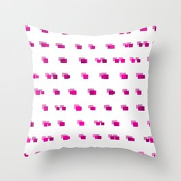 Squares: Pink Throw Pillow
