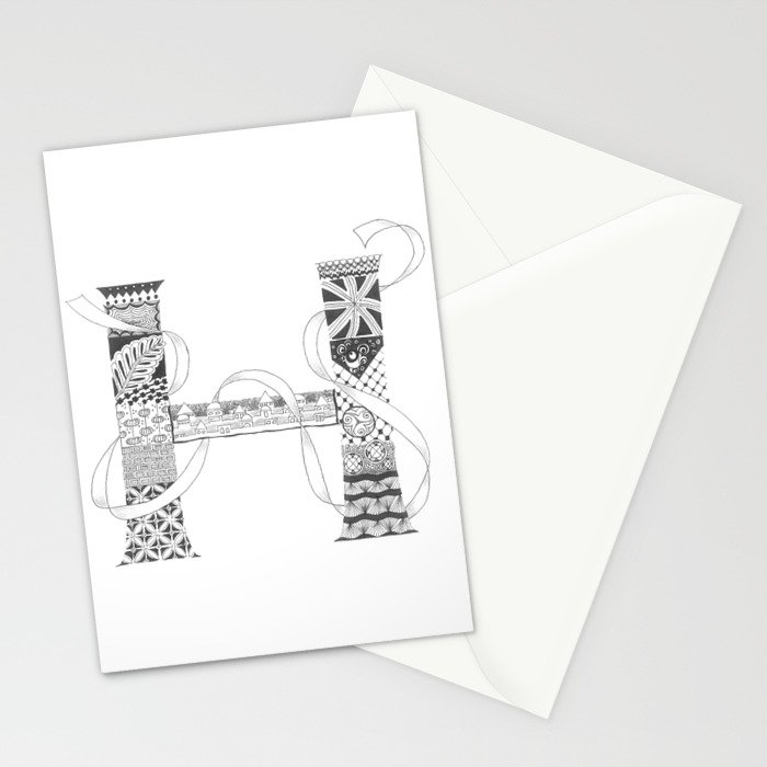 "Zenletter ""H"" Stationery Cards"