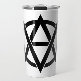 Vegan anarchism symbol Travel Mug