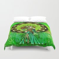 virgo Duvet Covers featuring Virgo by Lady Amethystine