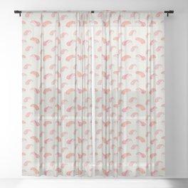 Watecolor Nigiri Sushi Pattern Sheer Curtain
