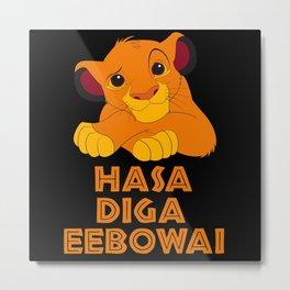 hasa diga baby lion Metal Print