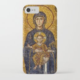 Mosaic Mary and Jesus iPhone Case