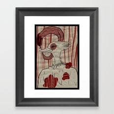 my tongue. Framed Art Print