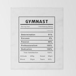 Gymnast Nutrition Ingredients Throw Blanket