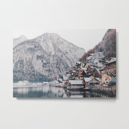 VILLAGE - COAST - MOUNTAINS - SNOW - PHOTOGRAPHY Metal Print
