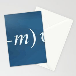 Equation of love Stationery Cards