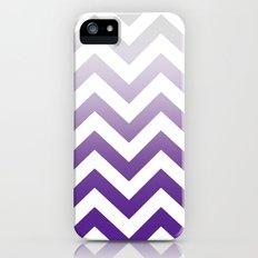 PURPLE FADE TO GREY CHEVRON Slim Case iPhone (5, 5s)