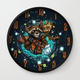 Space Buds Wall Clock