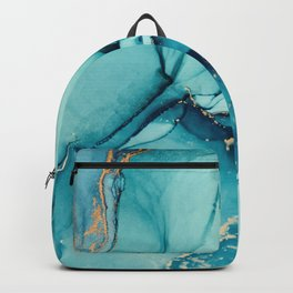 Abstract Turquoise Art Print By LandSartprints Backpack