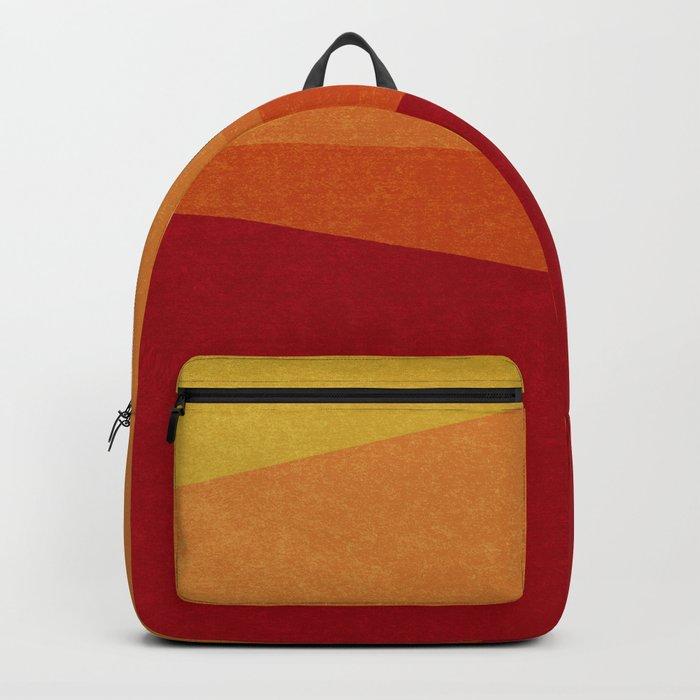 Stripe X Orange Peel Backpack