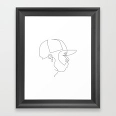 One Line For Dilla Framed Art Print