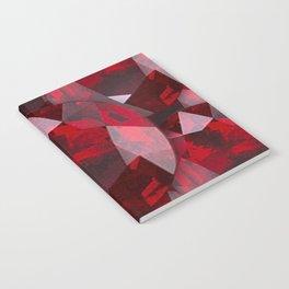 RED GARNET GEMS JANUARY BIRTHSTONE Notebook