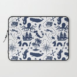 High Seas Adventure // Navy Blue Laptop Sleeve