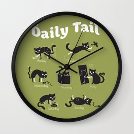The Daily Tail Cat Wall Clock