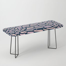 Organic Abstract Navy Blue Bench