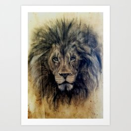 Rawr (coffee paper) Art Print