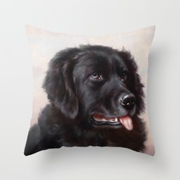 The Newfoundland Dog - Carl Reichert Throw Pillow