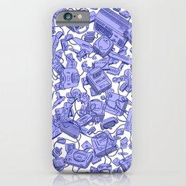 Retro Gamer - Blue iPhone Case