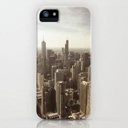 Chicago Buildings Sears Tower Sky Sun Color Photo iPhone Case