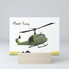 Huey Helicopter in Vietnam Mini Art Print
