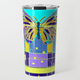 Arty Monarch Butterfly Landscape Abstract Travel Mug